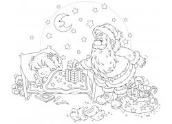 送礼物的圣诞老人图片