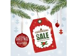圣诞球和促销卡片