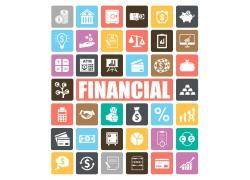 金融商务彩色图标图片