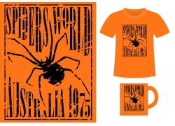 蜘蛛T恤图案设计素材