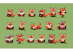 可爱卡通狐狸插画图片