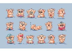 可爱卡通猪漫画图片