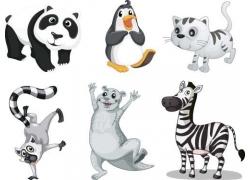 矢量卡通动物漫画图片