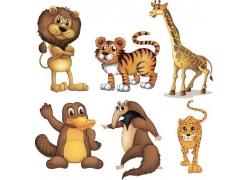 卡通野生动物插画图片