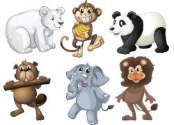 野生动物卡通漫画图片