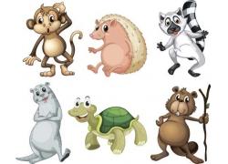 可爱卡通野生动物图片