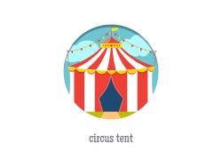 卡通马戏团帐篷
