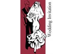 手绘婚礼邀请卡设计