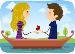 船上的情侣