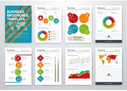 彩色商务图表