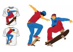 滑板运动员T恤图案