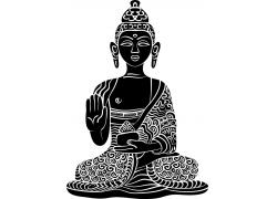 伸开五指的念佛人