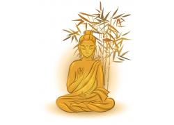 竹子和佛菩萨