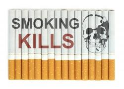摆放整齐的香烟