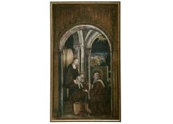 圣人和婴儿油画