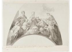 主教和人群绘画
