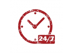 有日期的红色时钟