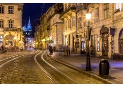 欧洲城市和灯光