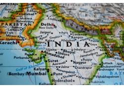 地图上的印度