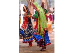 跳舞的印度美女