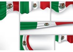 墨西哥国旗卡片