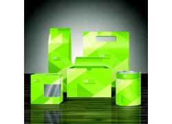 绿色科技方块包装