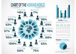 地球圆柱商务图形