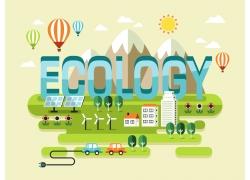 环保宣传卡通背景设计图片