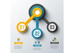 商务立体圆环图表