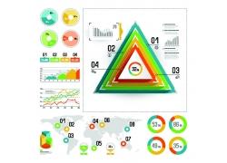 三角形圆形彩色信息图标