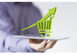 平板电脑上的购物图标