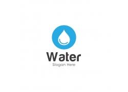 水滴和英文的图标