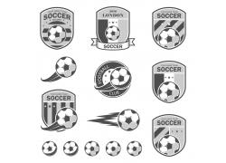灰色足球徽标设计