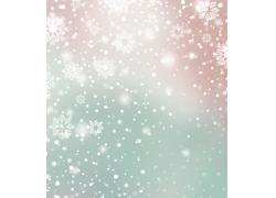唯美雪花壁纸设计素材