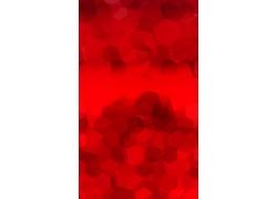 红色多边形时尚背景