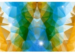 彩色立体多边形无缝背景