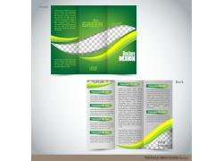 动感流线梦幻三折页设计图片