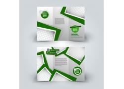 绿色方框三折页设计图片