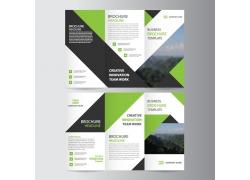 折纸背景三折页设计图片