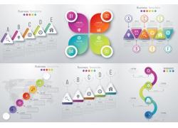 彩色立体商务图表