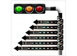 箭头红绿灯图表