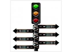 双排箭头红绿灯图表