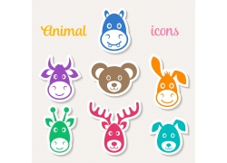 可爱动物卡通图案设计图片