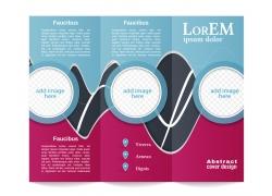 圆环动感流线三折页设计图片