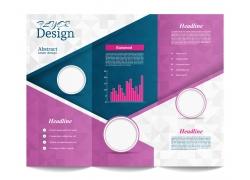 紫色时尚三折页模板图片