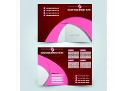 粉色曲线商务三折页图片