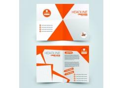桔色商务三折页模板图片