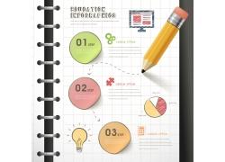 记事本和铅笔信息图表