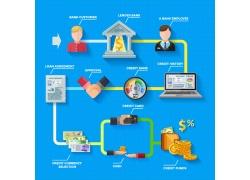 彩色金融信息图设计素材