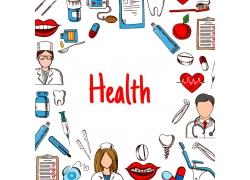 彩色医药健康图标